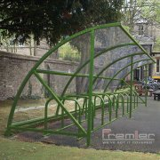 Harlyn 20 Bike Shelter, Green