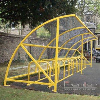 Harlyn 20 Bike Shelter, Yellow