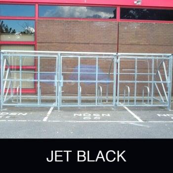 Harlyn 24 Bike Shelter with Secure Gates, Jet Black