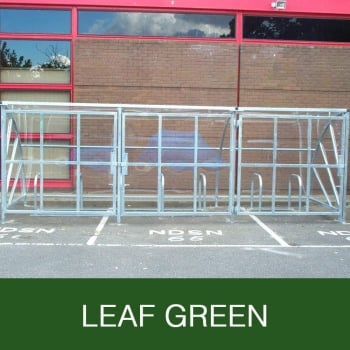 Harlyn 24 Bike Shelter with Secure Gates, Leaf Green