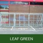 Harlyn 24 Bike Shelter with Secure Gates, Leaf Green