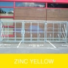 Harlyn 24 Bike Shelter with Secure Gates, Zinc Yellow