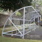 Harlyn 30 Bike Shelter, Galvanised Only
