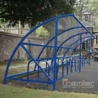 Harlyn 30 Bike Shelter, Marine Blue