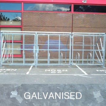 Harlyn 30 Bike Shelter with Secure Gates, Galvanised Only