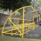 Harlyn 30 Bike Shelter, Yellow