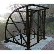 Lockable Sunrays 5 Bike Shelter, Black