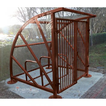 Lockable Sunrays 5 Bike Shelter, Brown