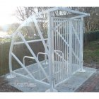 Lockable Sunrays 5 Bike Shelter, Galvanised