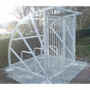 Lockable Sunrays 5 Bike Shelter, Galvanised