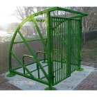 Lockable Sunrays 5 Bike Shelter, Green