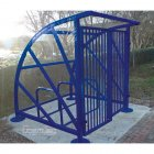 Lockable Sunrays 5 Bike Shelter, Marine Blue