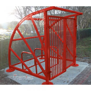 Lockable Sunrays 5 Bike Shelter, Red