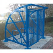 Lockable Sunrays 5 Bike Shelter, Sky Blue