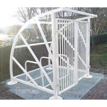 Lockable Sunrays 5 Bike Shelter, White