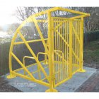 Lockable Sunrays 5 Bike Shelter, Yellow