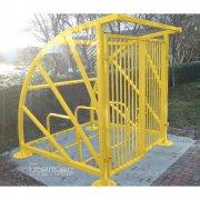 Lockable Sunrays 5 Bike Shelter, Yellow