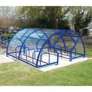 Salisbury Compound 20 Bike Shelter, Marine Blue