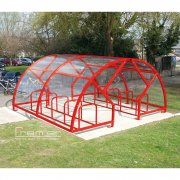 Salisbury Compound 20 Bike Shelter, Red