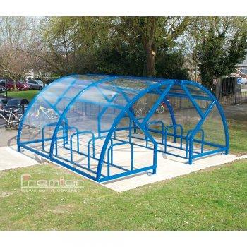 Salisbury Compound 20 Bike Shelter, Sky Blue
