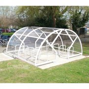 Salisbury Compound 20 Bike Shelter, White