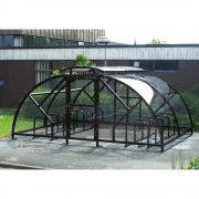 Salisbury Compound 20 Bike Shelter with Lockable Gate, Black