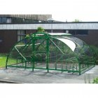 Salisbury Compound 20 Bike Shelter with Lockable Gate, Green