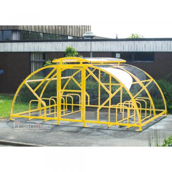 Salisbury Compound 20 Bike Shelter with Lockable Gate, Yellow