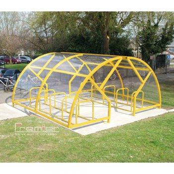 Salisbury Compound 20 Bike Shelter, Yellow