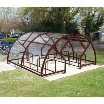 Salisbury Compound 28 Bike Shelter, Brown
