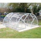Salisbury Compound 28 Bike Shelter, Galvanised only