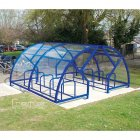Salisbury Compound 28 Bike Shelter, Marine Blue