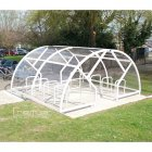 Salisbury Compound 28 Bike Shelter, White