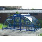 Salisbury Compound 28 Bike Shelter with Lockable Gate, Marine Blue