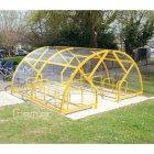 Salisbury Compound 28 Bike Shelter, Yellow