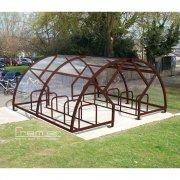 Salisbury Compound 40 Bike Shelter, Brown