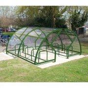 Salisbury Compound 40 Bike Shelter, Green