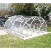 Salisbury Compound 40 Bike Shelter, Grey
