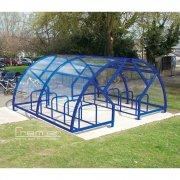 Salisbury Compound 40 Bike Shelter, Marine Blue