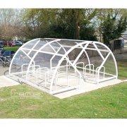 Salisbury Compound 40 Bike Shelter, White