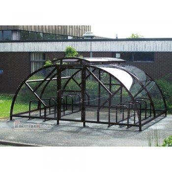Salisbury Compound 40 Bike Shelter with Lockable Gate, Black