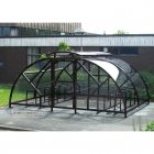 Salisbury Compound 40 Bike Shelter with Lockable Gate, Black