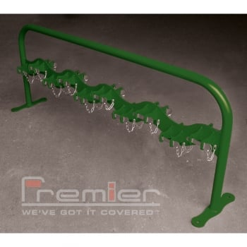 Scooter Rack Double Sided for 20 Scooters, Leaf Green