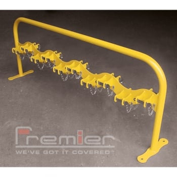 Scooter Rack Double Sided for 20 Scooters, Zinc Yellow