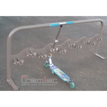 Scooter Rack for 10 Scooters, Basalt Grey