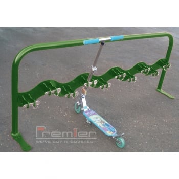 Scooter Rack for 10 Scooters, Leaf Green