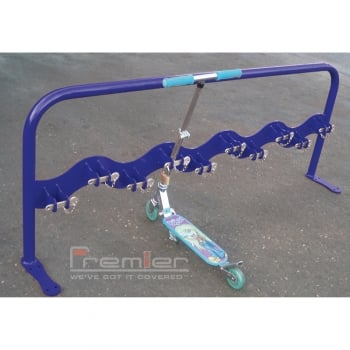 Scooter Rack for 10 Scooters, Marine Blue