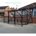 Sennen 10 Bike Shelter with Secure Gates, Black