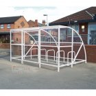 Sennen 10 Bike Shelter with Secure Gates, White