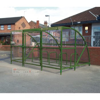 Sennen 20 Bike Shelter with Secure Gates, Green